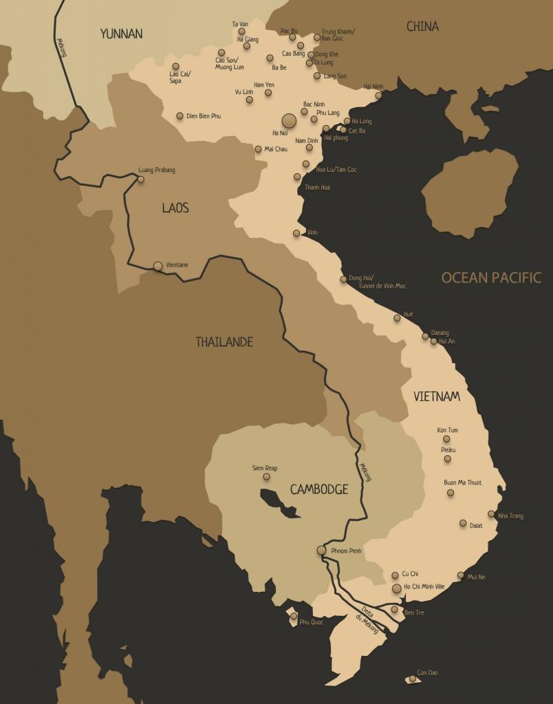 Le Vietnam et ses principales villes